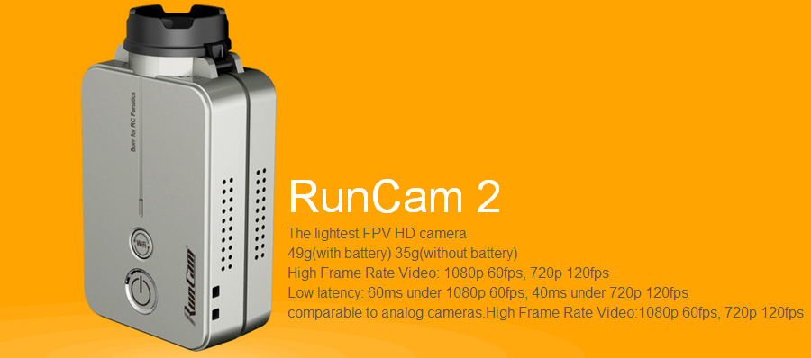 RunCam 2 RunCam2 HD 1080P 120 Degree Wide Angle WiFi FPV Camera For RC Drone
