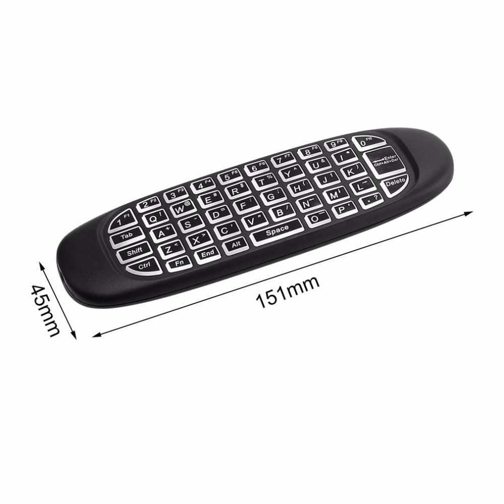 2.4G Wireless Backlight Air Mouse Keyboard For Android TV Box Laptop PC Windows Macbook OS