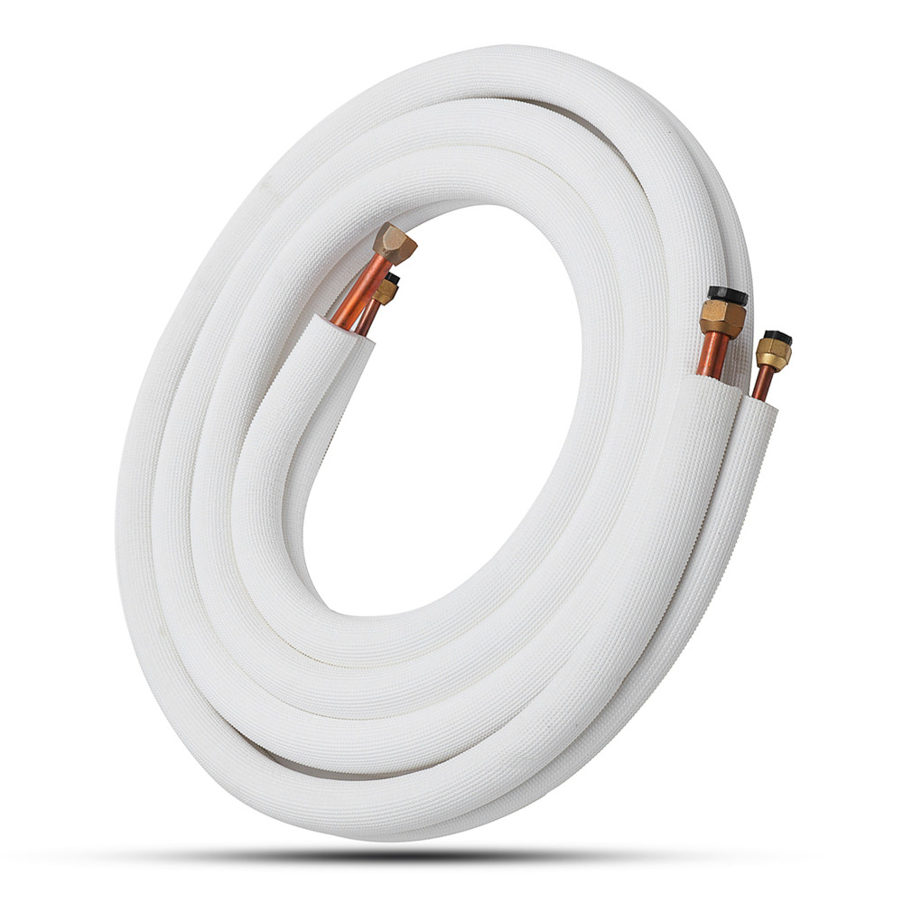 5/8 Inch 3/8 Inch 5m Insulated Coil Copper Twin Line Set Air Conditioner Exhaust Hose Split Tube