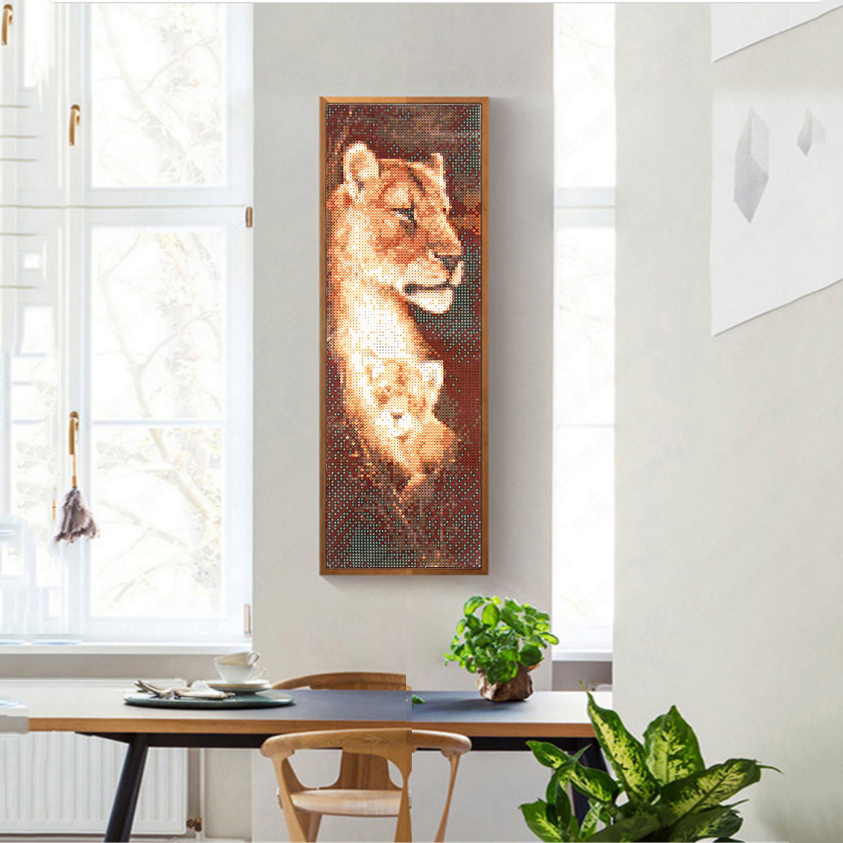 5D DIY Full Drill Diamond Painting Animals Cross Stitch Embroidery Home Decorations