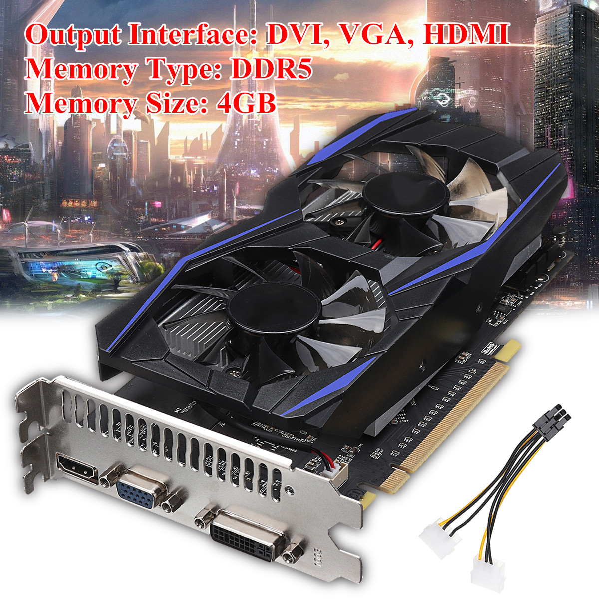 GTX970 4GB DDR5 128Bit VGA DVI HD Multimedia Interface PCI-Express Game Video Graphics Upgrade Card