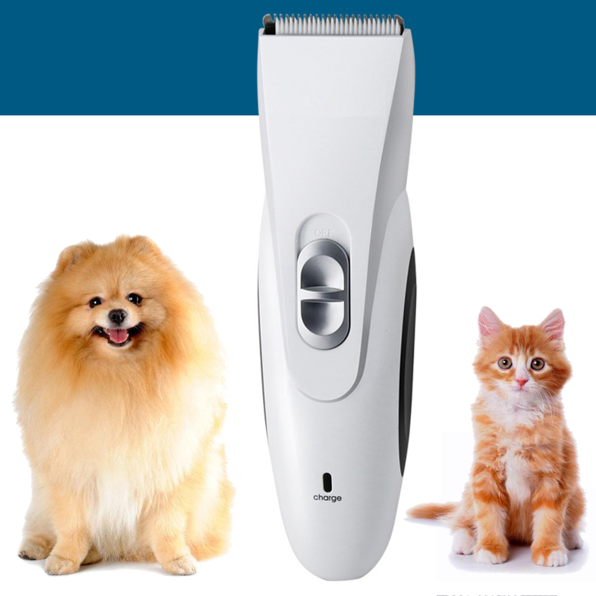 Pro Cordless Electric Dog Cat Pet Animal Hair Blade Grooming Trimmer Clipper Set