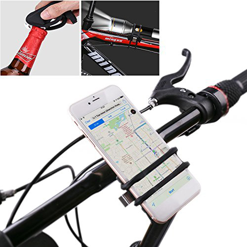 BIKIGHT Shockproof Anti Shake Bike Phone Holder Bicycle Handlebar Rubber Strap Holder for Smartphonees Flashlight or Other Tools