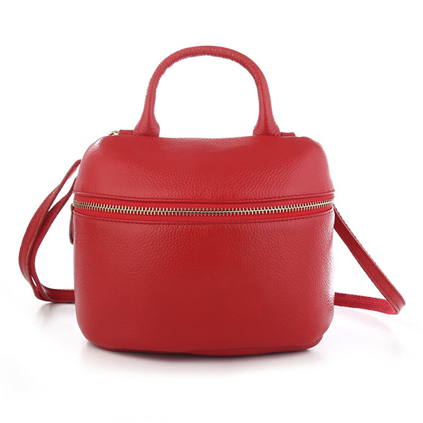 Details: Material Genuine Leather(Cowhide) Color Black, Gray, Red, Royal Blue Weight 320g Length 21cm(8.27') Height 15.5cm(6.10') Width 9cm(3.54') Pattern Pure Color Inner Pocket Main Pocket, Inner Zipper Pocket, Back Zipper Pocket Closure Zipper Package #handbag