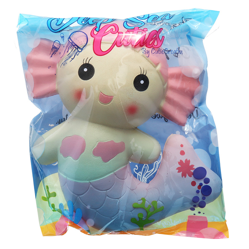 Cutie Creative Squishy Mermaid Toys Scented Bread Cake Super 19CM Soft Slow Rising Original Packaging
