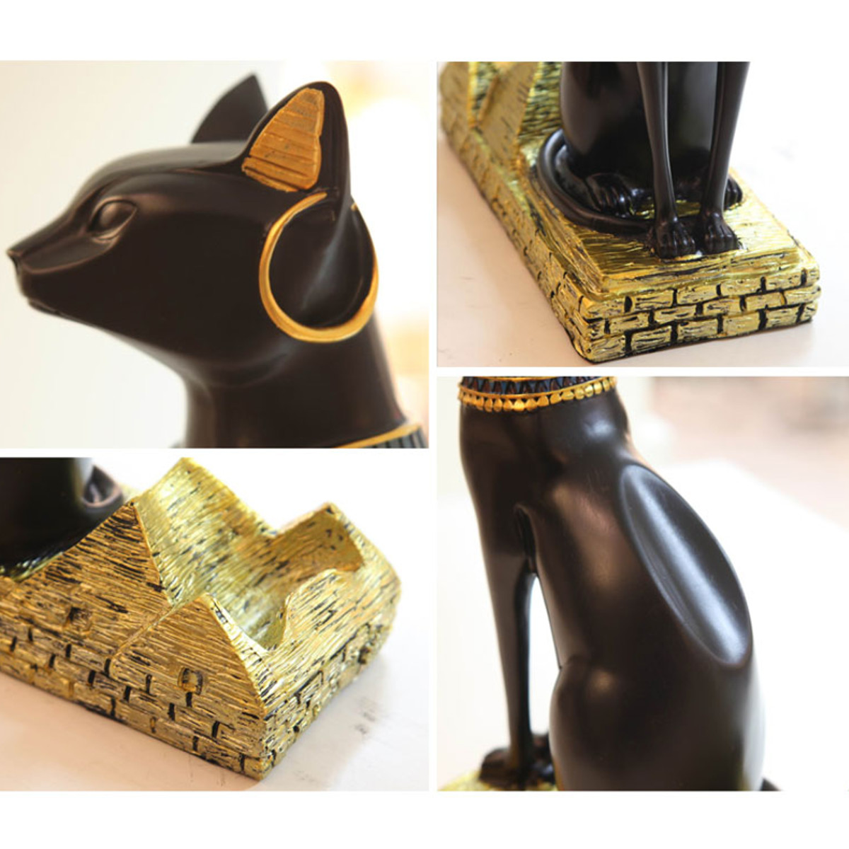 12'' Cat Figurine Egyptian Ancient Bastet Vintage Goddess Statue Home Decorations