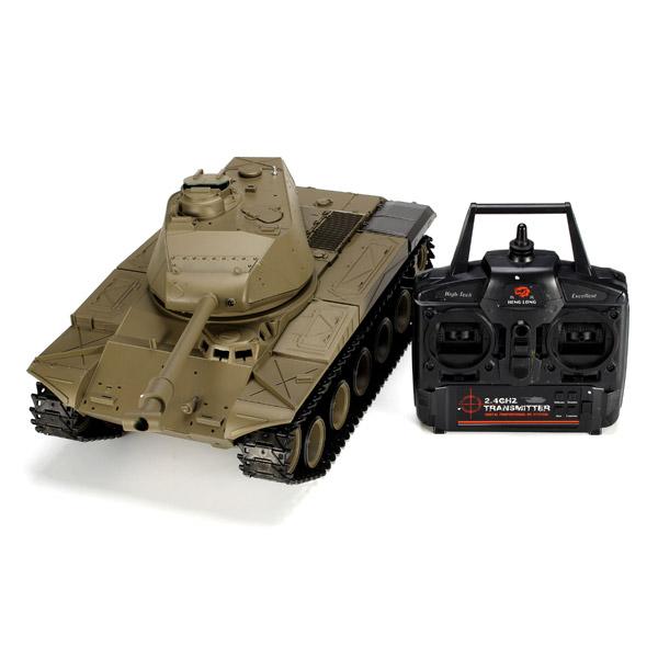 Heng Long 3839-1 2.4G 1/16 US M41A3 Walker Bulldog Light Tank RC Battle Tank