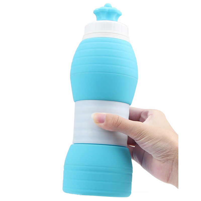 IPRee® 600ML Silicone Folding Cup Portable Retractable Telescopic Water Bottle Outdoor Travel Sports