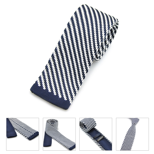 PenSee Men's Neckties Twill Plaids Slim Skinny Knitting Leisure Accessory Ties