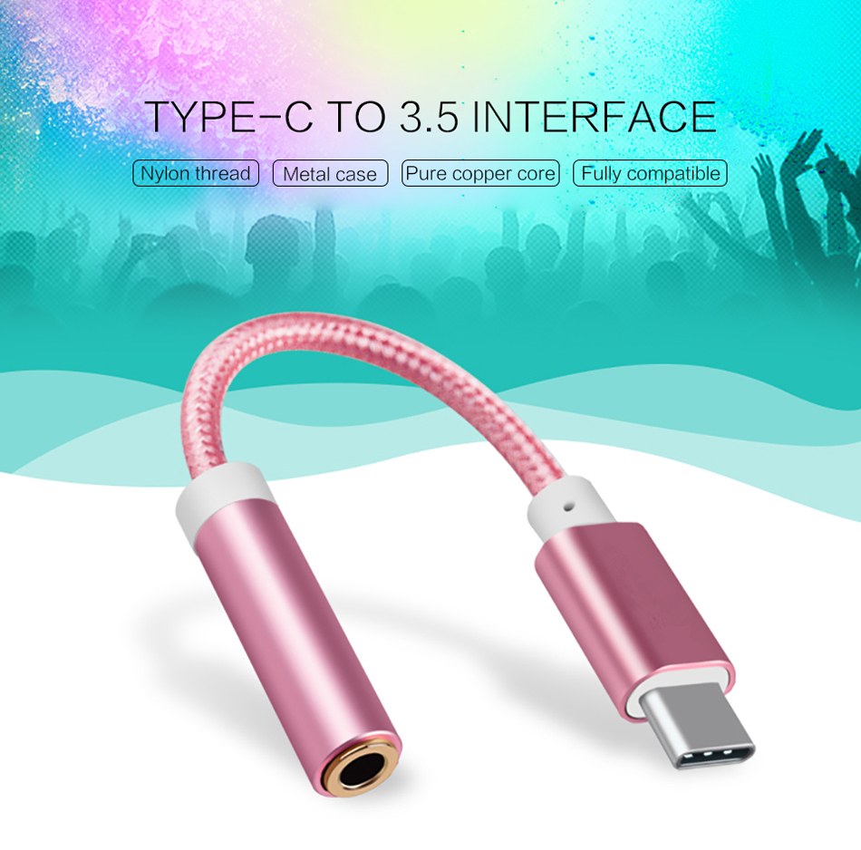 Bakeey Braided Type C To 3.5MM Jack Audio Cable Adapter Converter For Oneplus 6 5t Xiaomi Mi8 Mi A1