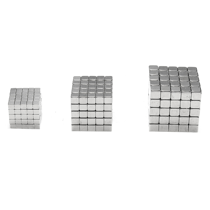 3/4/5mm 125pcs Magnetic Cube Tin Box Magnet Balls Magic Square 3D Puzzle Toy Gift Decor