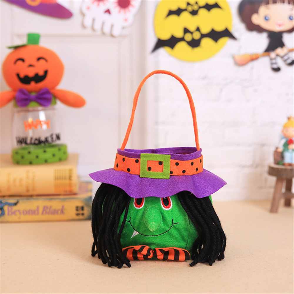 Halloween Hand Bag Witch Pumpkin Bag Cosplay Costumes Candy Bag Decoration Toys