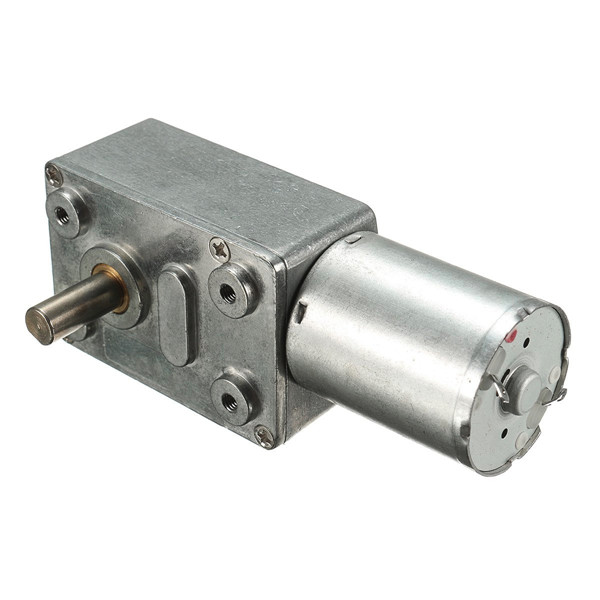 DC 12V 0.6rpm Reversible High torque Turbo Worm Gear Motor GW370 DC Reducer Motor