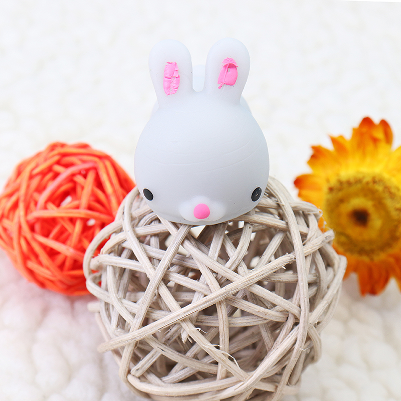 Grey Bunny Rabbit Squishy Squeeze Cute Healing Toy Cute Collection Stress Reliever Gift Decor