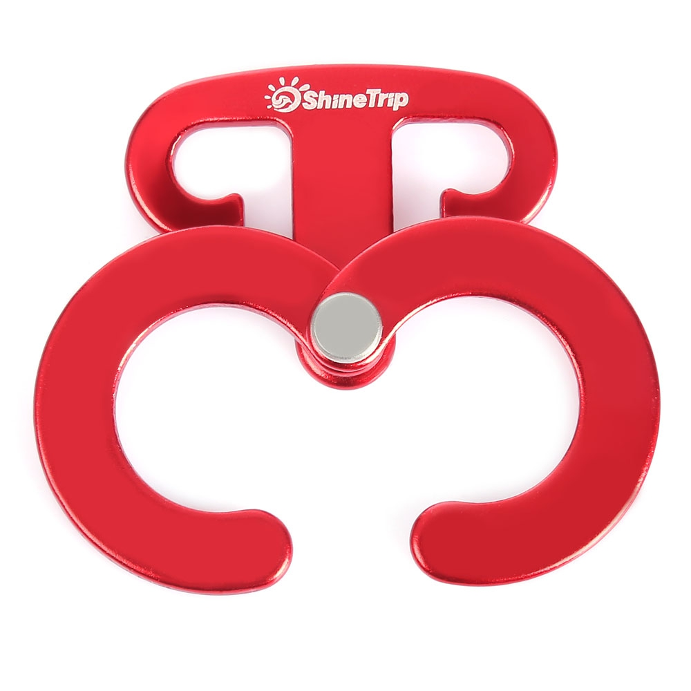 SHINETRIP Aluminum Buckle Tent Hook Wind Rope Hanging Camping Automatic locking Button
