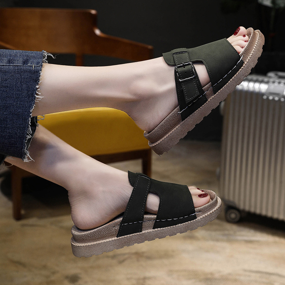 Women Adjustable Buckle Comfortable Casual Sandals