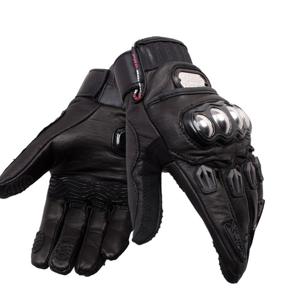 Motorcycle Driving Genuine Leather Full Finger Gloves Motocross Racing Pro-biker MCS-06