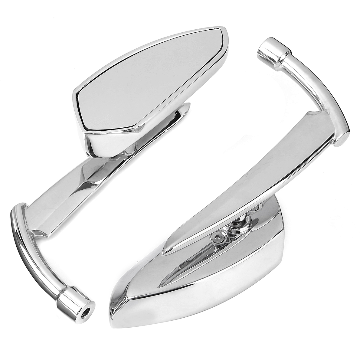 8mm 10mm Chromed CNC Blade Rear Review Mirrors For Harley Dyna Heritage Softail Sportster