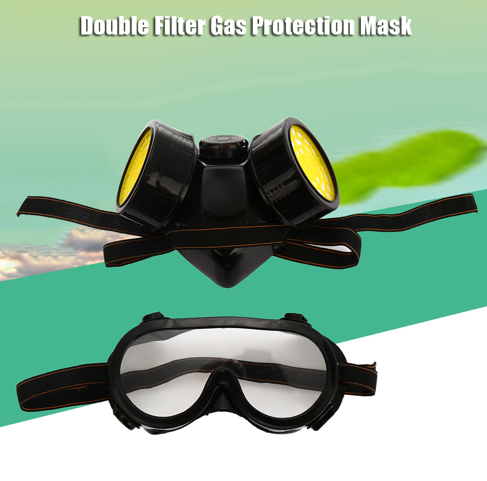 Double Filter Gas Protection Mask Filter Chemical Respirator Mask for Fire Self-help Protection