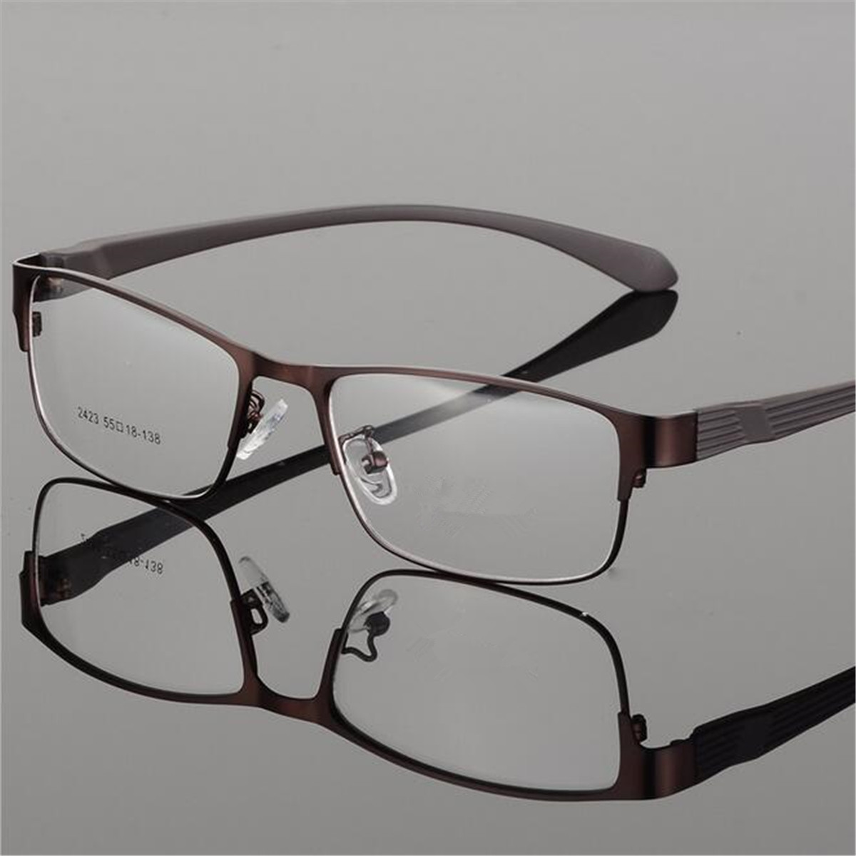 Fashionable Light Slim Eye Glasses Frame Metal Full Rim