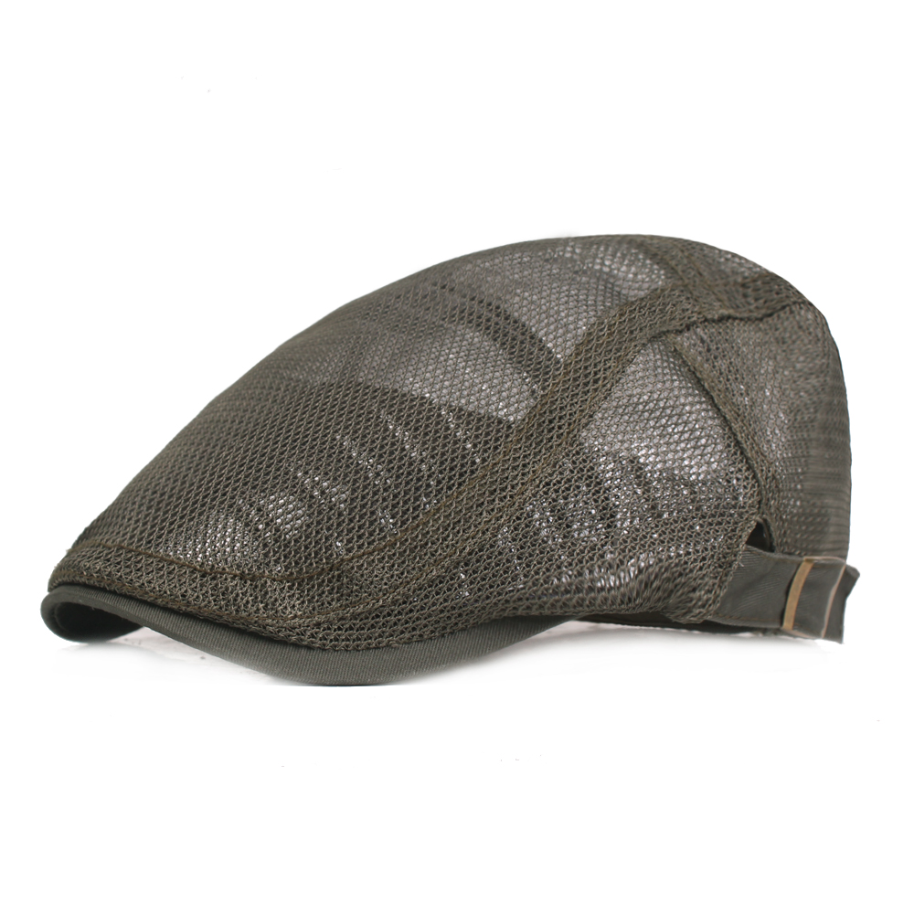 Mens Womens Mesh Breathable Painter Beret Cap