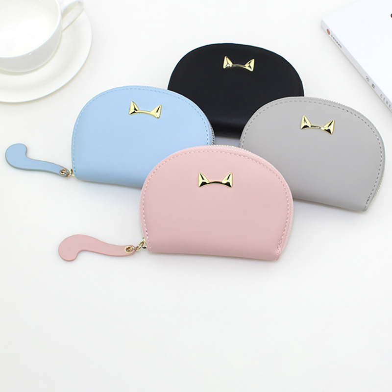 Women Faux Leather Cartoon Style Coin Purse Card Holder