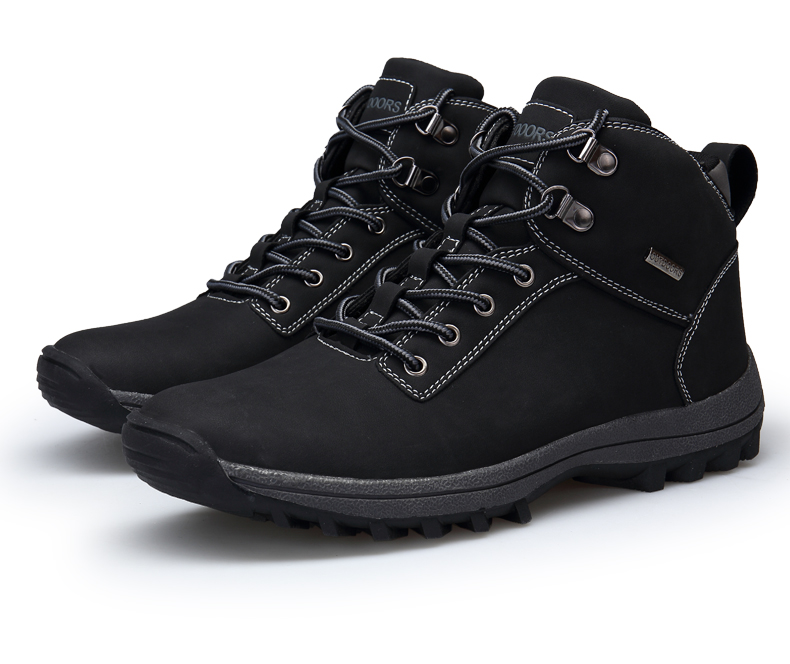 Men's Winter Snow Boots Outdoor Fashion Sneaker Warm Lining Non-Slip Climbing Casual Shoes