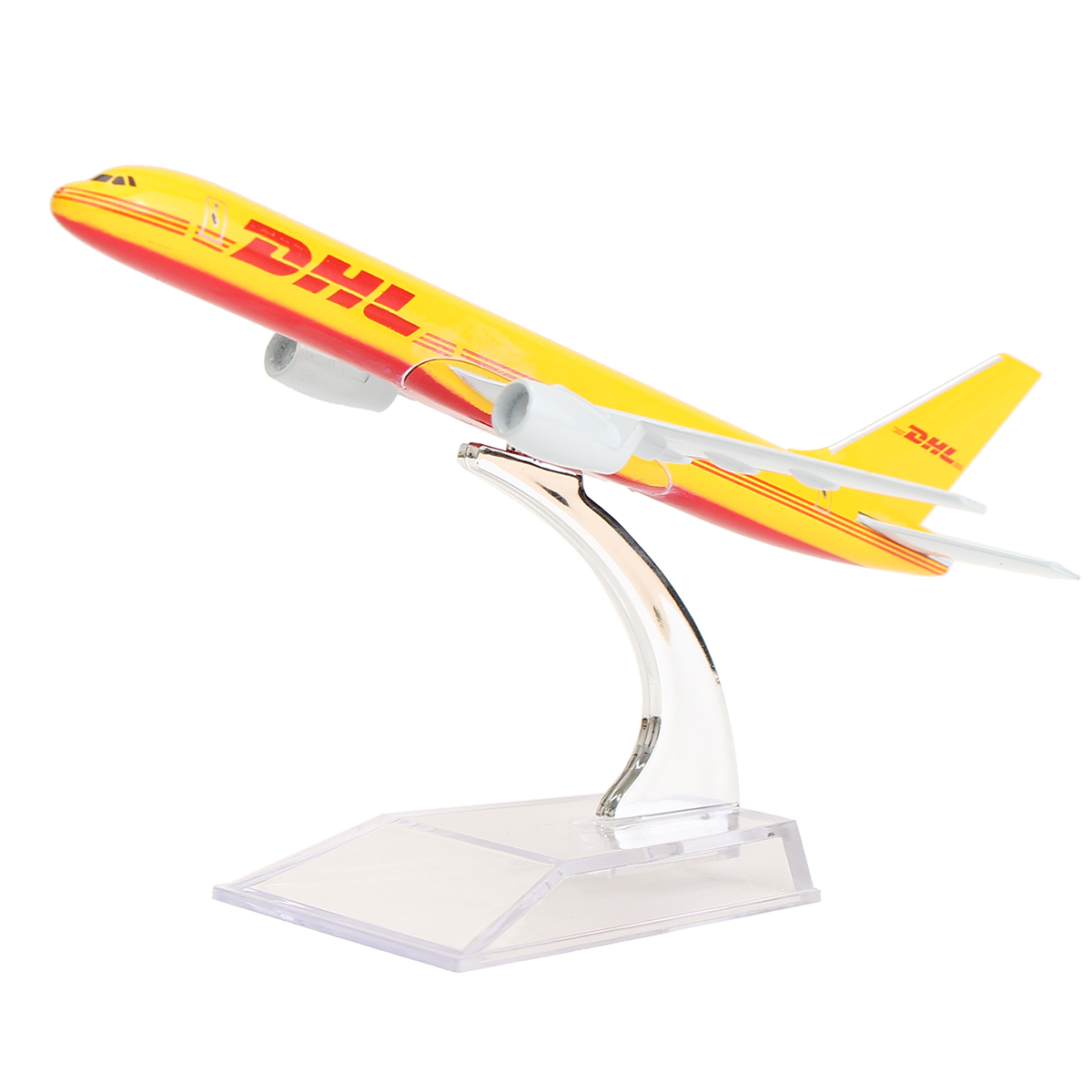 Airplane 16cm Metal Plane Model Aircraft B757 DHL Kargo Aeroplane Scale Desk Diecast Alloy Toys