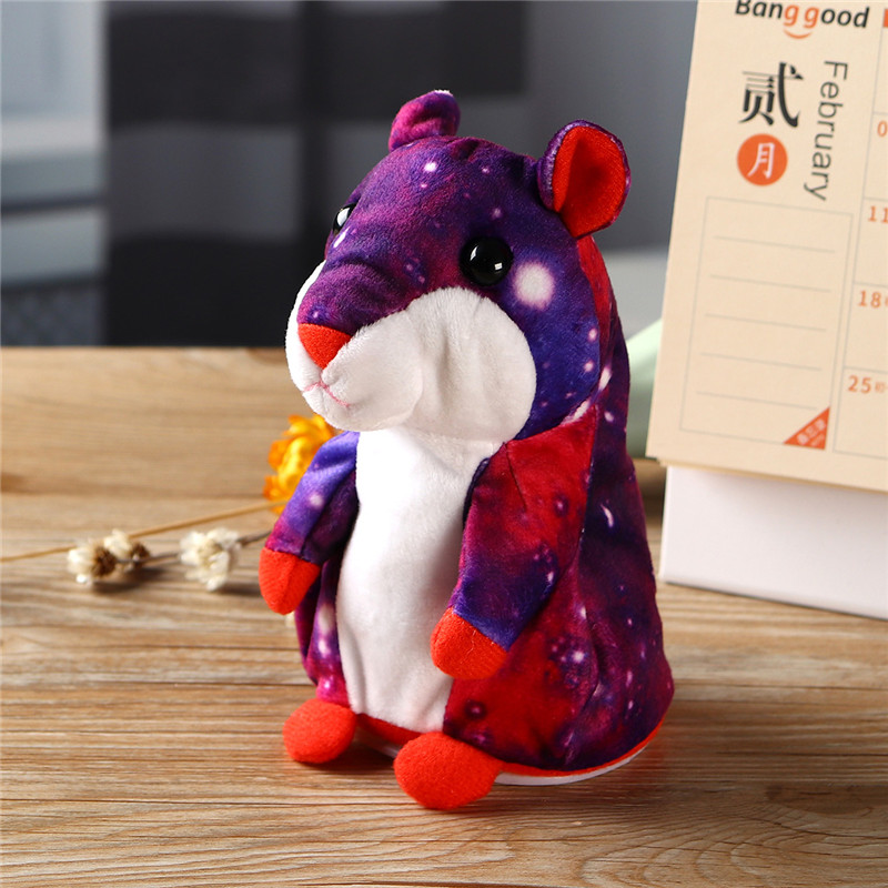 Lovely Stuffed Talking Hamster Galaxy Plush Toy Cute Speak Talking Sound Record Hamster