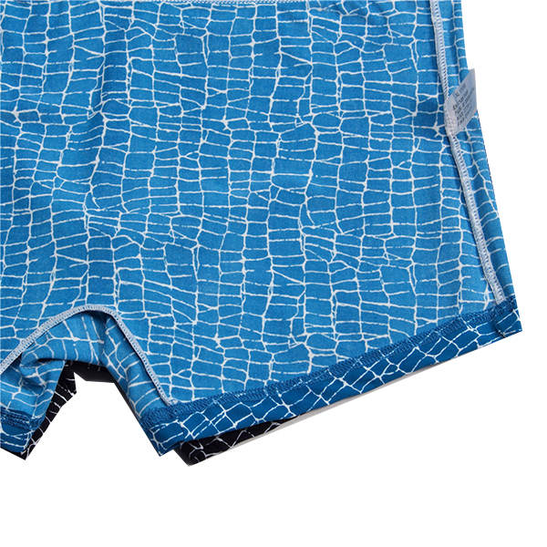 Mens Printing Ice Silk Breathable Wicking Mid Rise Boxer