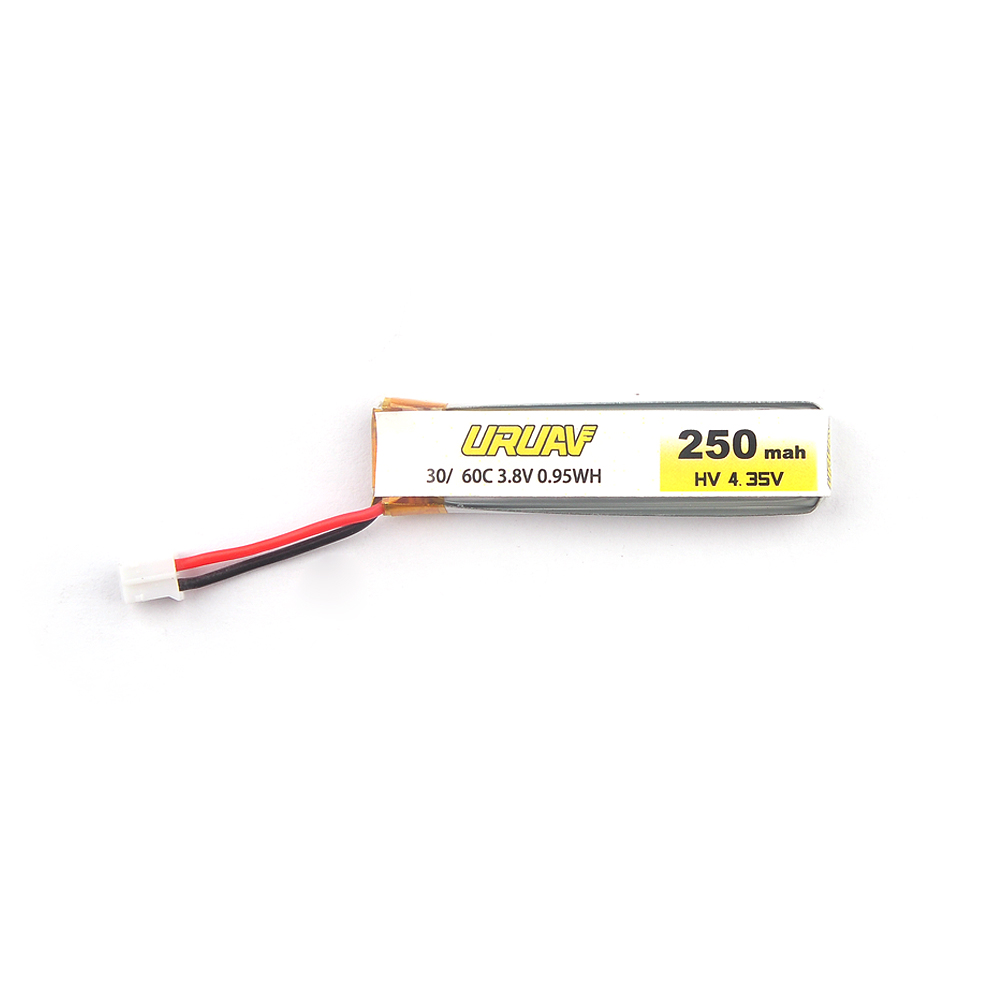 URUAV UR65 FPV Racing Drone Spare Part 3.8V 250mAh 30C/60C Lipo Battery - Photo: 2