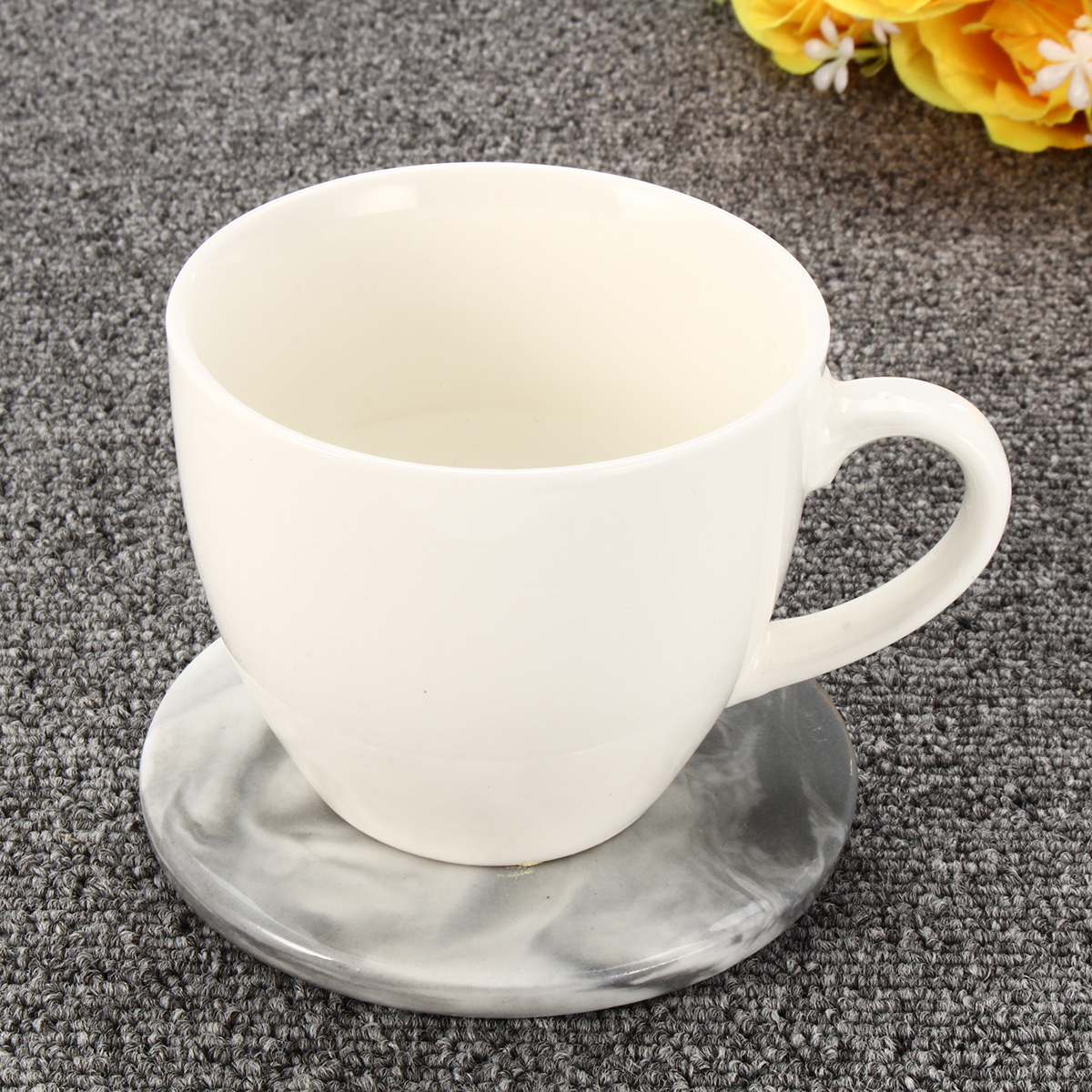 3 Pattern Set Marble Anti Slip Ceramic Coaster Coffee Cup