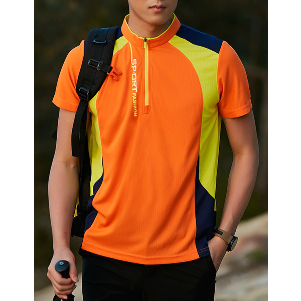 Outdoors Quick Drying Sports T-shirt Summer Men's Casual Water Repellent Breathable T-shirts
