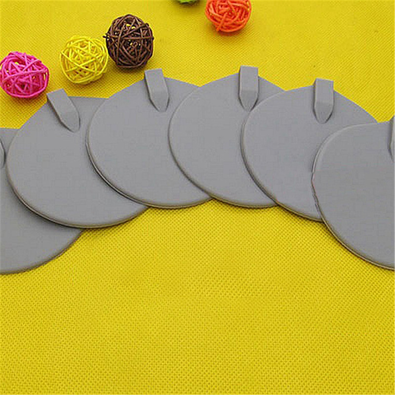 1Pair Silicone Gel Round Oval Shape TENS Unit Electrode Pad