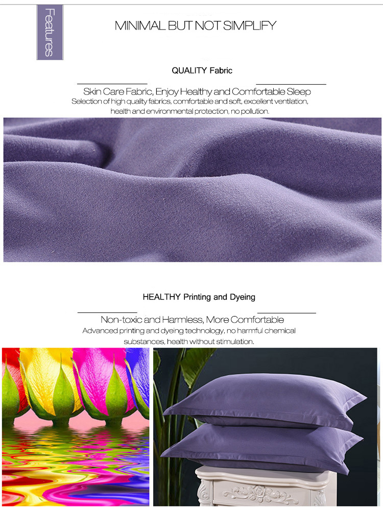 KCASA KC-P250 2Pcs Queen Size Pillow Cases 100% Brushed Microfiber Ultra Soft Pillowcase Covers