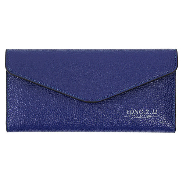 Women Candy Color Envelop Long Wallet Girls Hasp Purse Card Holder Coin Bags 5.5'' Phone Bags