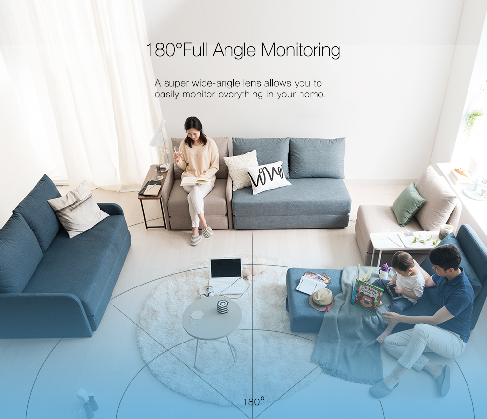 New Upgrade Support Onvif Digoo DG-UFC H.265 Strengthen Lens 1080P FHD 2.8mm 180 Degree Wireless Night Vision Smart Home WIFI IP Camera Security Monitor