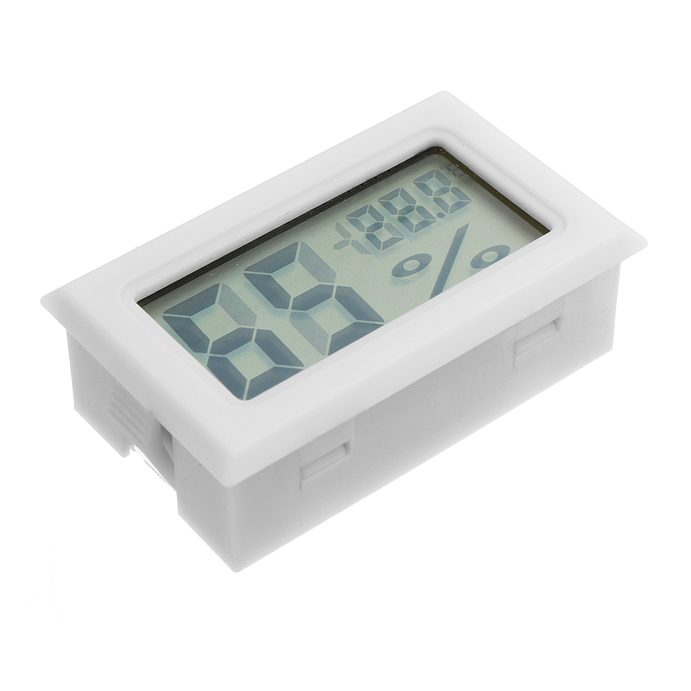 Mini LCD Digital Thermometer Hygrometer Fridge Freezer Temperature Humidity Meter White Egg Incubator
