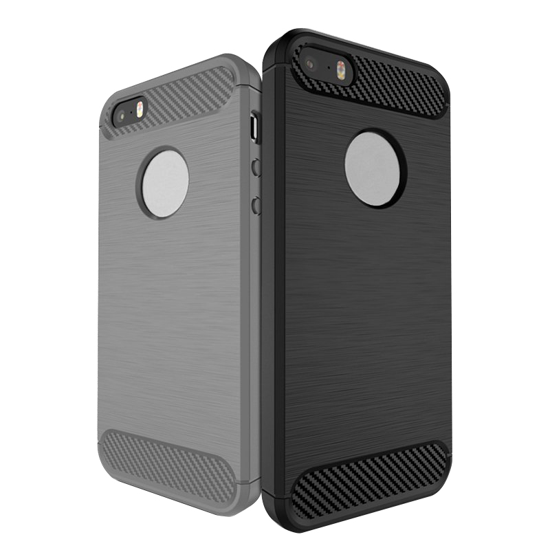 Bakeey 1.5mm Thickness Carbon Fiber TPU Case For iPhone