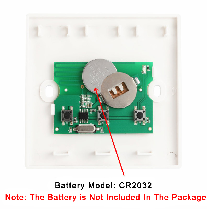 Bakeey 433MHz Wall Panel Wireless Remote Transmitter 1 2 3 Button RF Controller Switch For Light Lamp