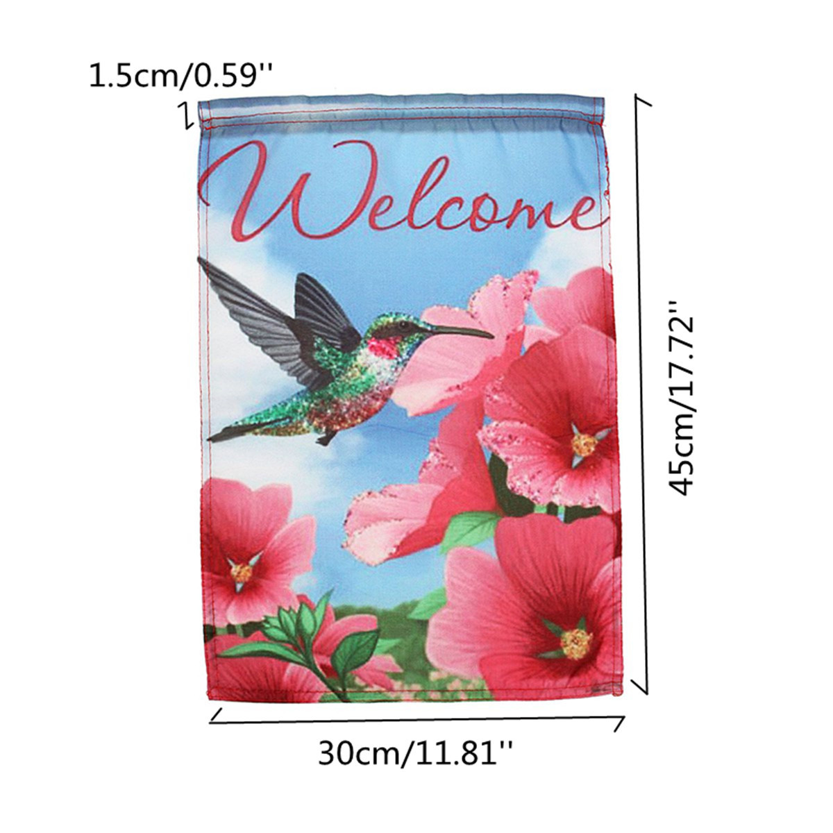 12x18 Inch Mini Welcome Flags Garden Yard Banner Bird&Flowers House Decorations