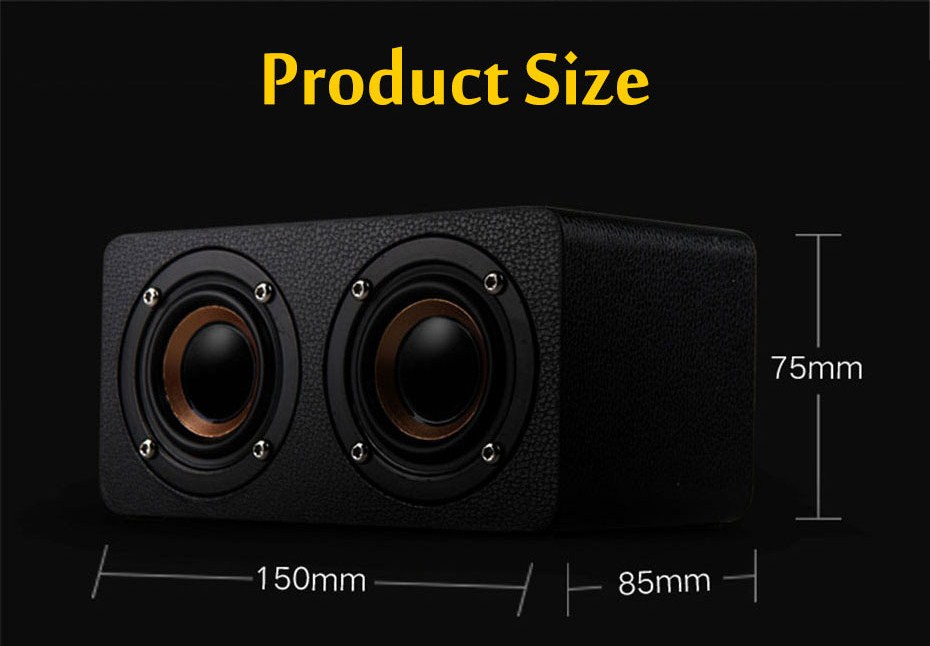 M5 Wooden Dual Driver Unit TF Card AUX FM Radio Stereo Bass bluetooth Speaker With Mic