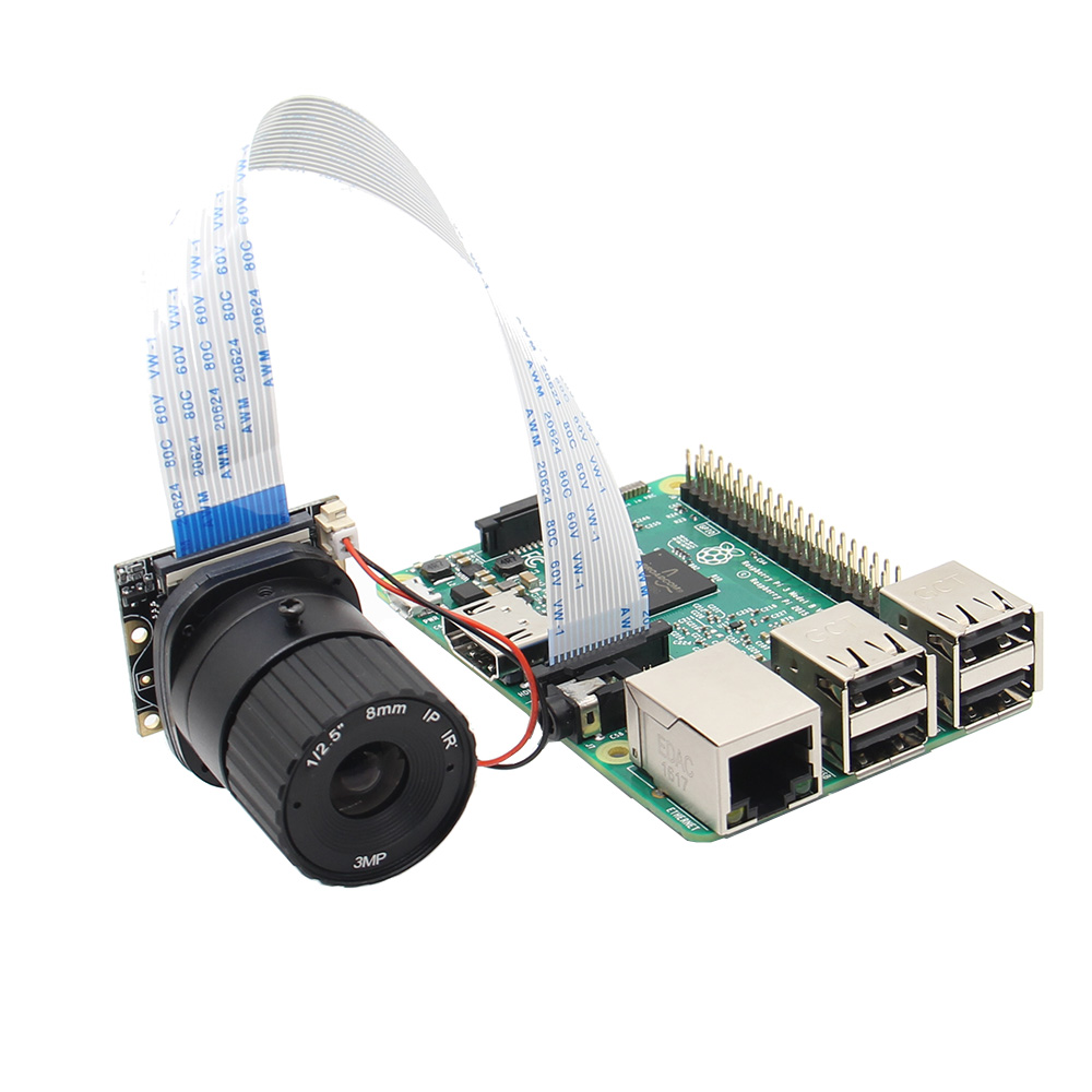 8mm Focal Length Night Vision 5MP NoIR Camera Module Board With IR-CUT For Raspberry Pi