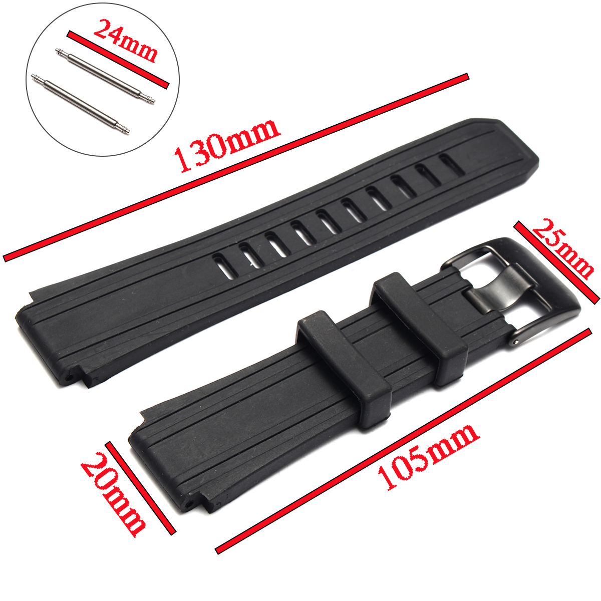 Soft Silicone Strap Watch Band for Luminox Sentry