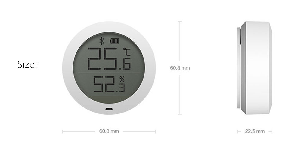 Xiaomi Mijia bluetooth Temperature Humidity Sensor LCD Screen Digital Thermometer Hygrometer Moisture Meter