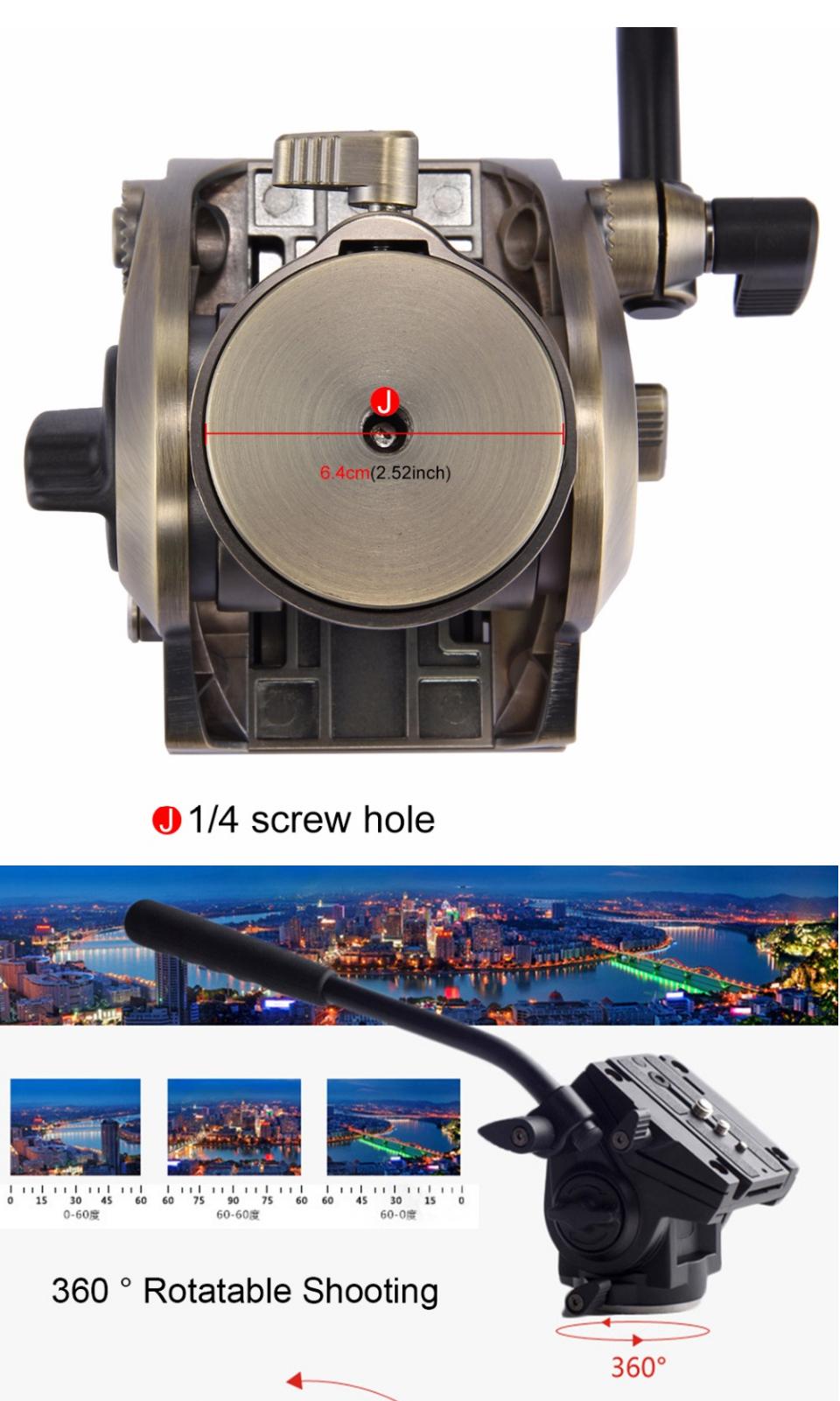 PULUZ PU3501 Video Tripod Head Quick Release Sliding Plate for DSLR SLR Camera Monopod Slider