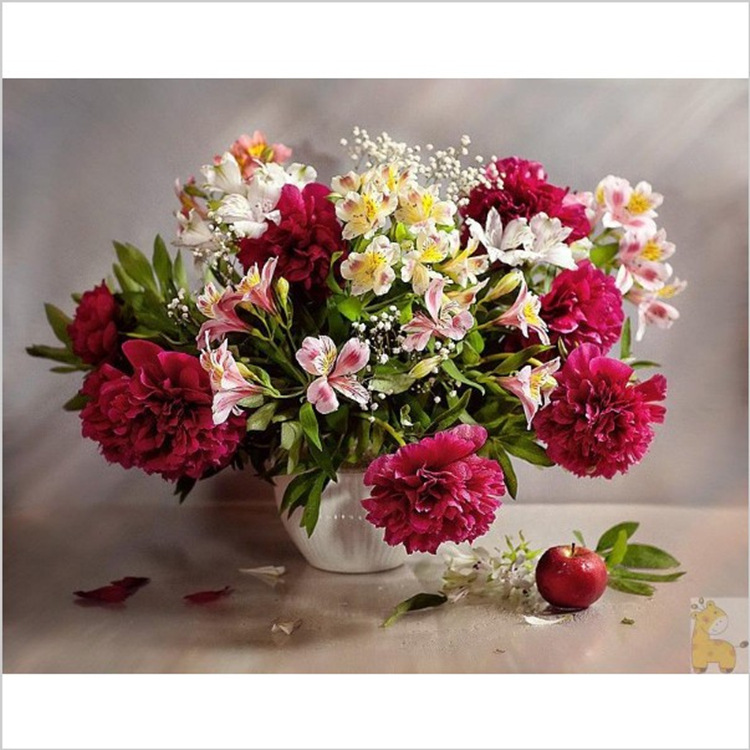 DIY Diamond Embroidery Flower Diamond Paintings Cross Stitch Carnations Pictures Mosaic Needlework