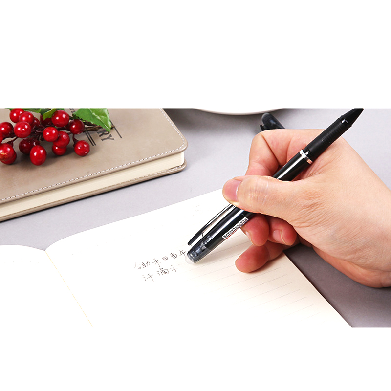 1Pcs M&G 0.5mm Erasable Romove By Friction Gel Ink Ball Pen Black Blue For Elfinbook Notebook Use