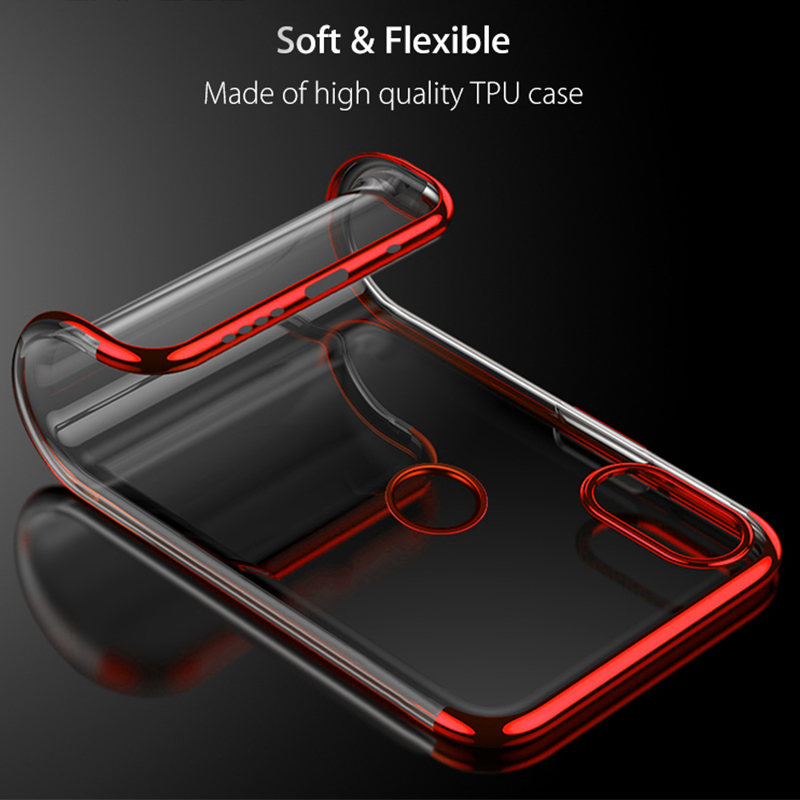 Bakeey™ Color Plating Transparent Soft TPU Back Cover Protective Case for Xiaomi Mi MIX 3