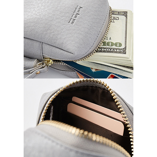 Women Pure Color Simple Coin Bag Card Holder Purse Clutch